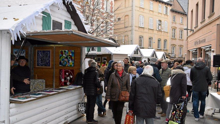 Samedi, au marché de Noël, c'était jour de grande affluence.