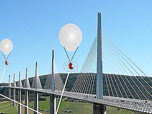 Le Ballooneos sera relié au sol par des câbles.