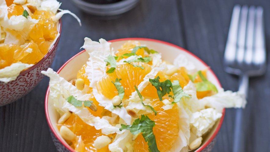 Salade de clémentines et chou chinois au gingembre