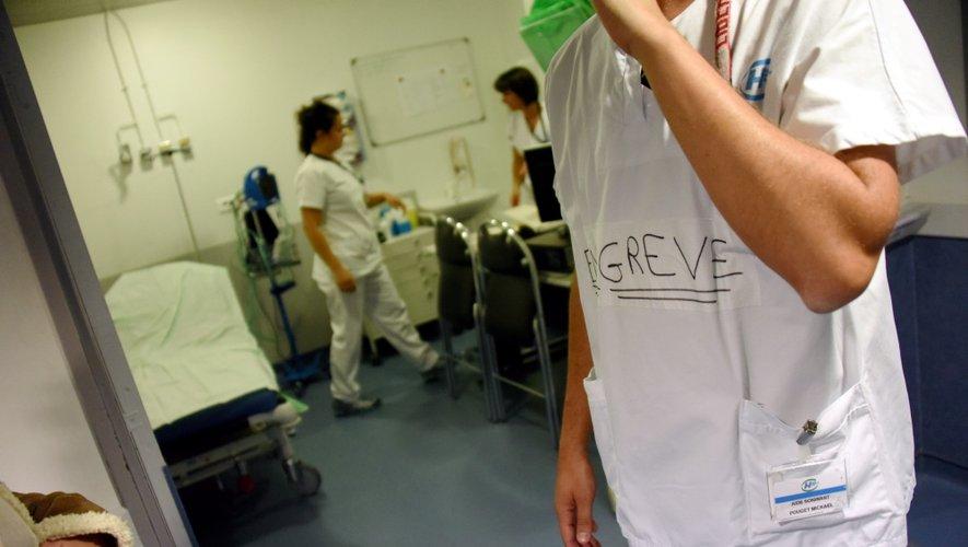 La moitié des internes de l'hôpital ruthénois ont rejoint la grève.