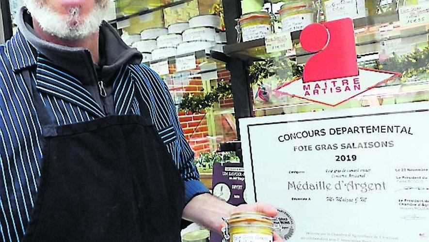 Médaille d'argent pour le foie gras de Jean-Michel Malzac