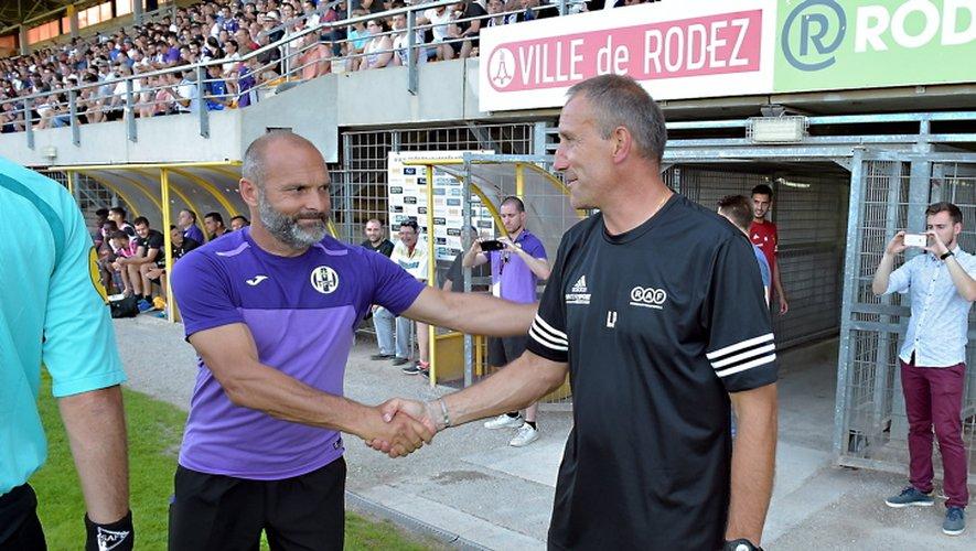 Pascal Dupraz et Laurent Peyrelade ne se sont « affrontés » qu'une fois, en juillet 2017, lors du match amical entre  Toulouse et Rodez.
