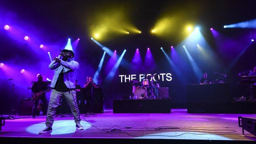 Le chanteur du groupe The Roots, Tariq Luqmaan Trotter alias Black Thought, sur la scène de la 31ème édition des Eurockéennes de Belfort, le 7 juillet 2019