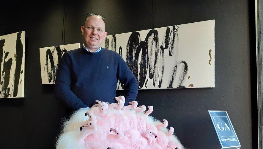 Philippe Annotiau ravi de sa nouvelle galerie.