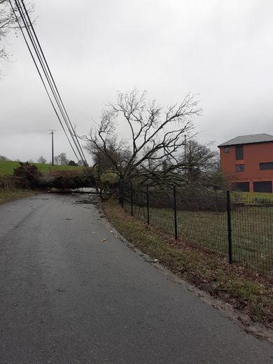 L'accès au village de Noyès, commune de Camboulazet, coupé depuis ce matin. Un exemple parmi tant d'autres...