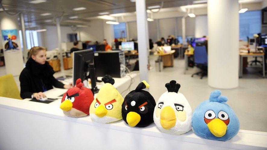 Les personnages d'Angry Birds en peluche chez Rovio à Espoo, en Finlande le 21 janvier 2011