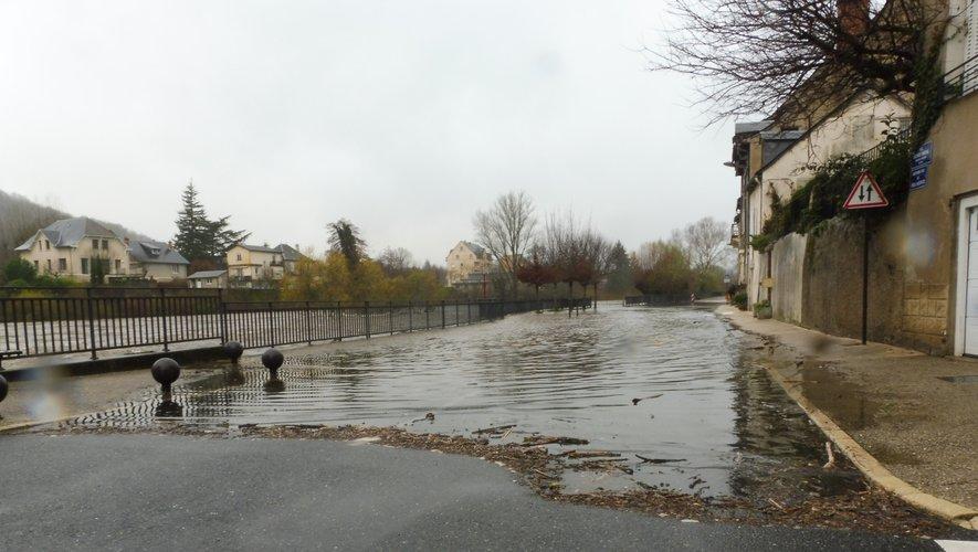 A Espalion, le Lot est sorti dans le quartier du Moulin.