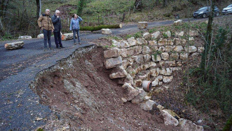 Les dégâts sur les routes de la commune ont été importants.