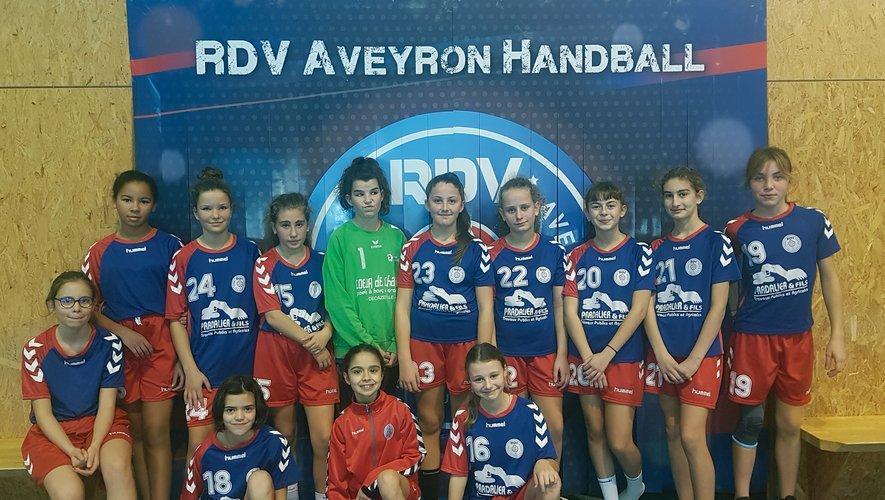 Un beau parcours pour l' équipe des 13 ans filles.