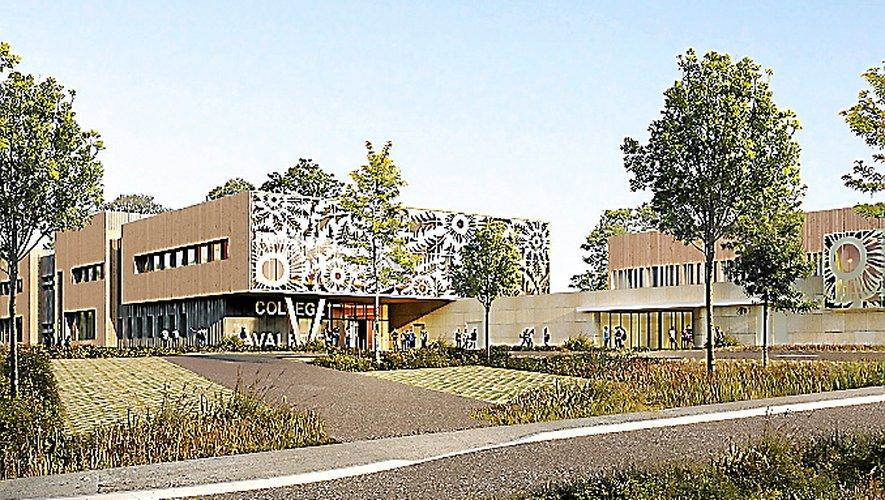 Début des travaux du collège du Larzac prévu à l'été 2020.
