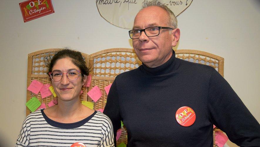 Marion Berardi et Matthieu Lebrun.