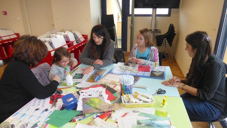 Quelques participantes à cet atelier aux côtés de Géraldine.