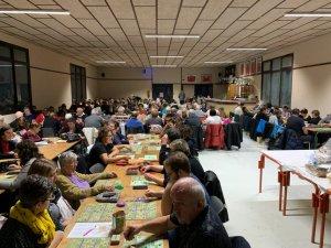 L'APE avait décidé d'organiser le Quine à la salle des fêtes du Piboul.