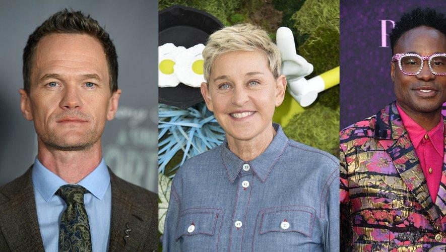 Patrick Harris, Ellen DeGeneres et Billy Porter sont connus pour leur engagement dans la cause LGBTQ.