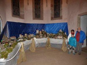 La fabuleuse crèche à voir en l'église de Bruéjouls.