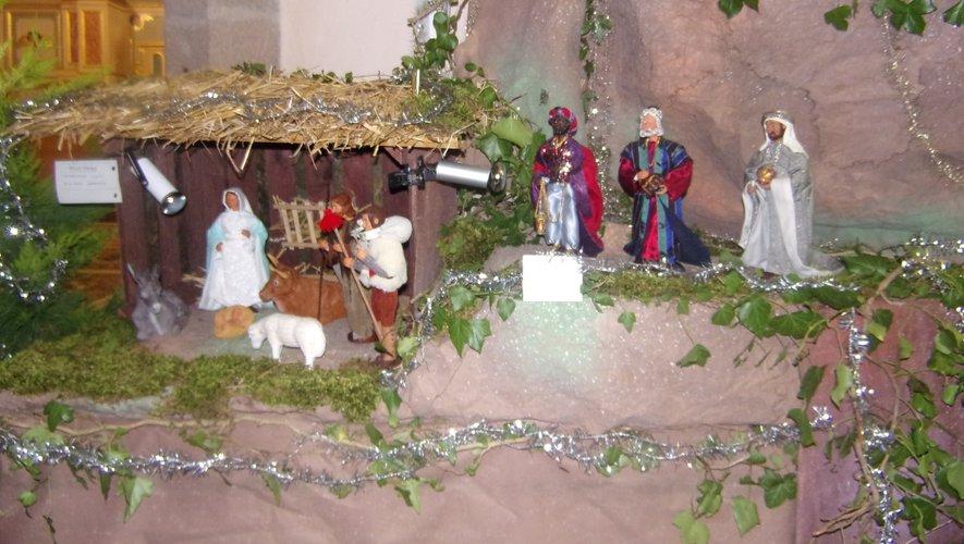 La crèche de l'église d'Anglars.