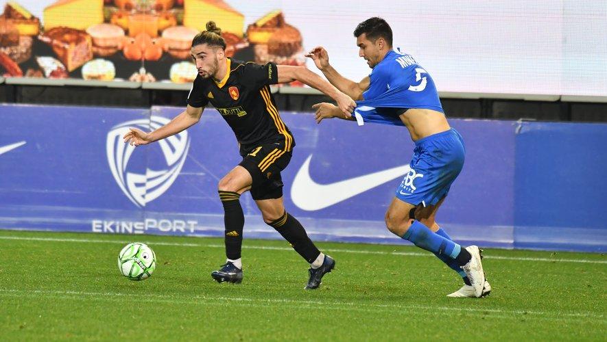 Malgré le huitième but d'Ugo Bonnet, Rodez s'est incliné à Grenoble.