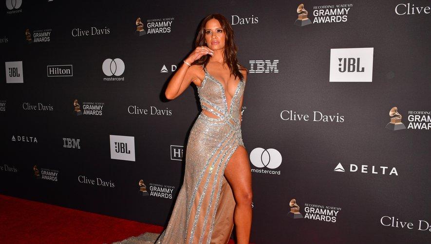 Rocsi Diaz a fait grimper la température d'un cran aux Grammy Awards avec cette robe aux découpes sexy signée Benj Leguiab IV. Beverly Hills, le 9 février 2019.