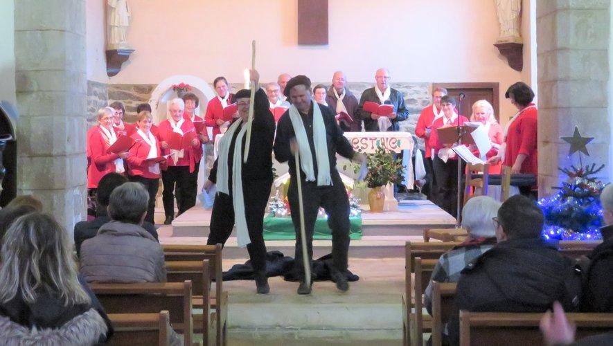 Les chanteurs de la chorale Saint Martin du Ceor.