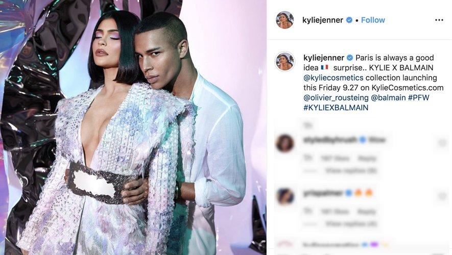 Kylie Jenner et Olivier Rousteing de Balmain