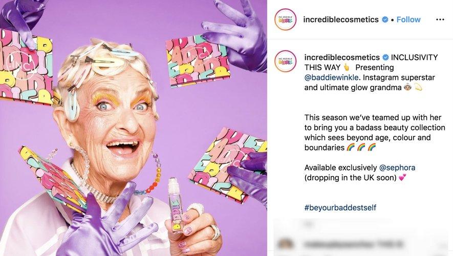 Inc.redible Cosmetics, collaboration avec Baddie Winkle