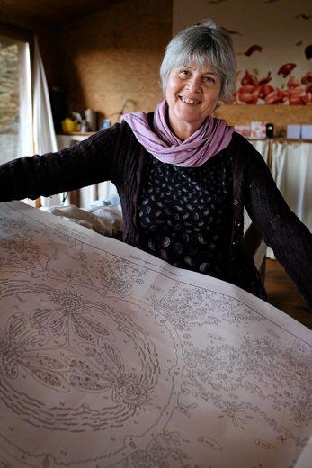 Concevoir une tapisserie, c'est un lent processus, qui demande une grande concentration.Photos H.L.