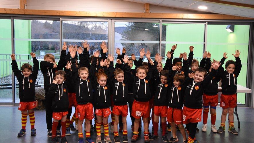 Le Père Noël a visité l'école de rugby