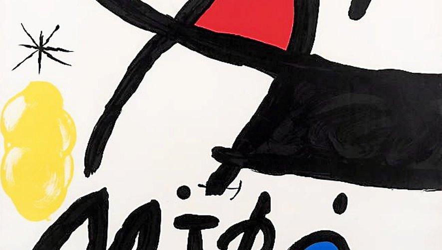 Personnage et oiseau, une huile sur carton de 1963, et une lithographie Paris 1971, deux œuvres présentes dans le catalogue de la galerie Lelong.