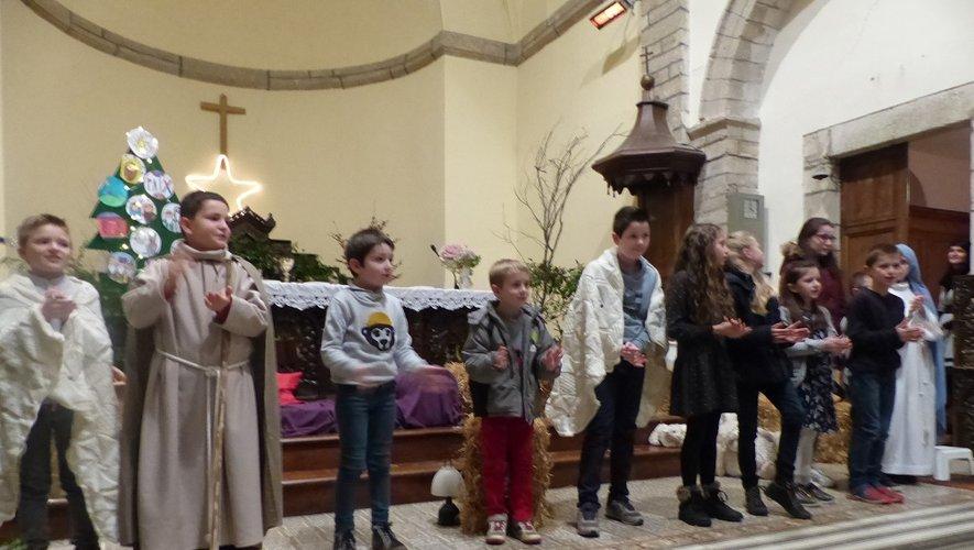 La veillée de Noël a été animéepar les enfants.