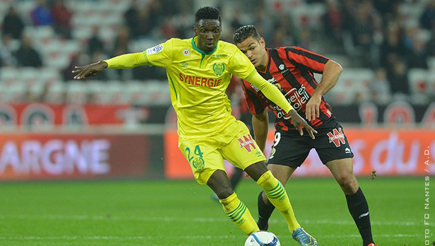 Alexis Alégué lors de son seul match professionnel face à Nice..