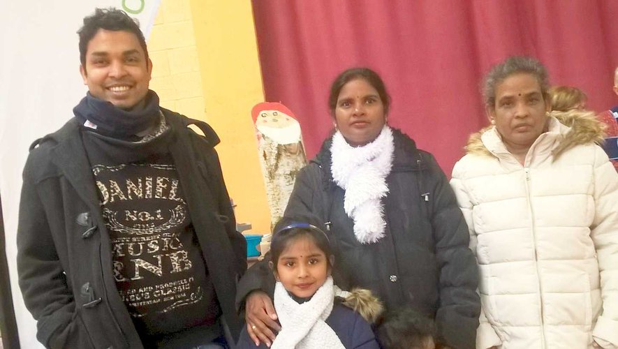 La famille sri-lankaise accueillie.