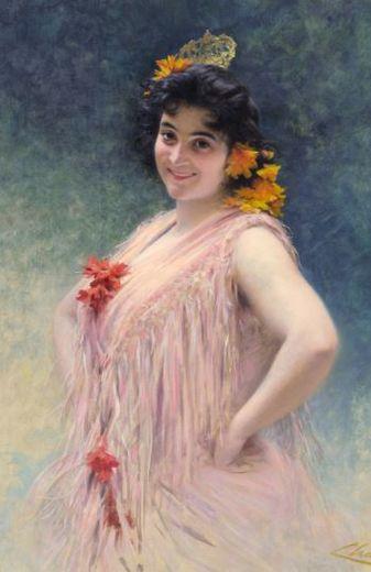 Emma Calvé née en 1858 à Decazeville.