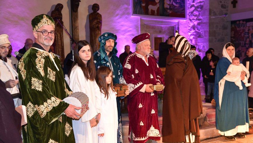 Jésus, Marie et les Rois mages.