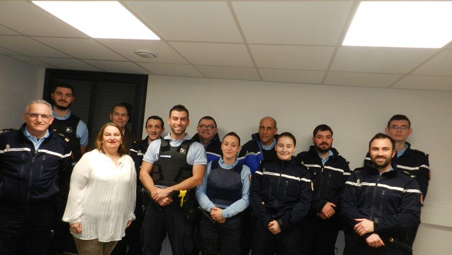 La sous-préfète Pascale Rodrigo a rendu visite aux gendarmes en service pour la nuit de la Saint-Sylvestre, une douzaine sur le territoire de la communauté de brigades et une trentaine sur celui de la compagnie.