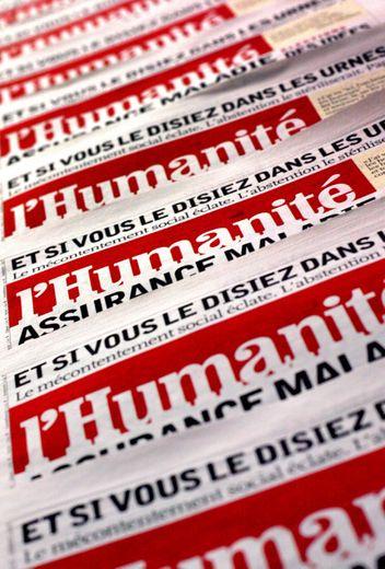 Le quotidien L'Humanité a fait passer son prix de 1,10 à 1,20 euro