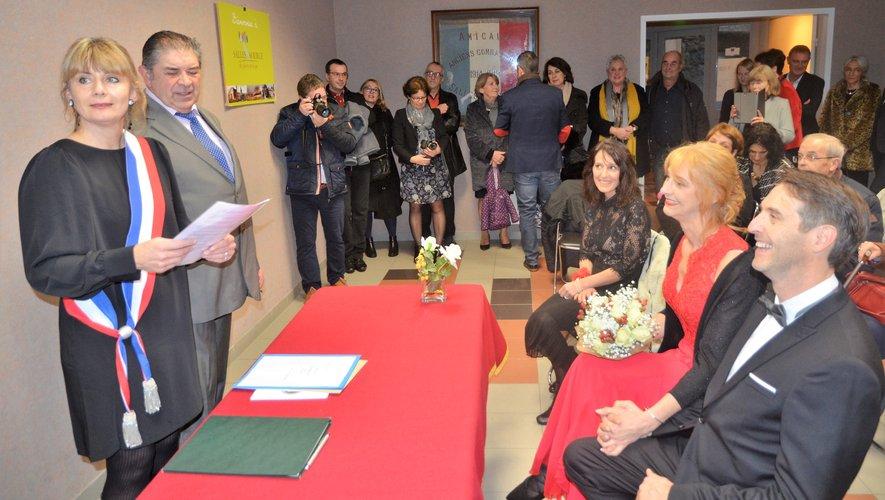Christine Cambon et Yves Bray ont uni leur destinée lors du dernier mariage de l'année