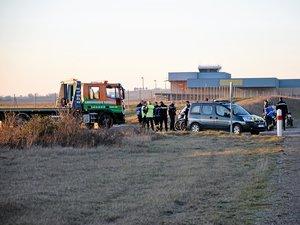 L'accident est survenu sur la RD 840, peu après l'aéroport, en direction de Rodez.