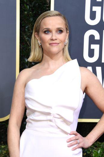 L'Américaine Reese Witherspoon a elle aussi choisi un carré blond très tendance qu'elle a coiffé sur le côté pour l'occasion.