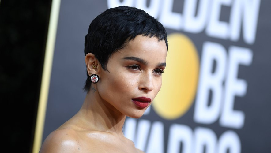 L'actrice Zoe Kravitz a associé sa coupe garçonne signature à un ravissant rouge à lèvres foncé pour marquer les esprits sur le tapis rouge.