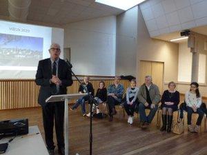 Samedi 4 janvier ernard Scheuer a présenté ses vœux aux Saint-Cômois.