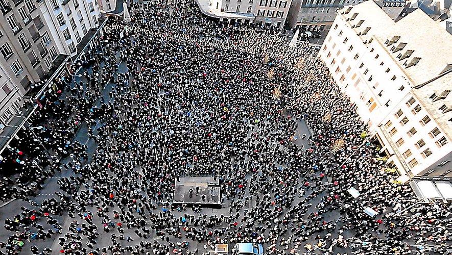 Près de 17 000 personnes s'étaient rassemblées il y a cinq ans, à Rodez.