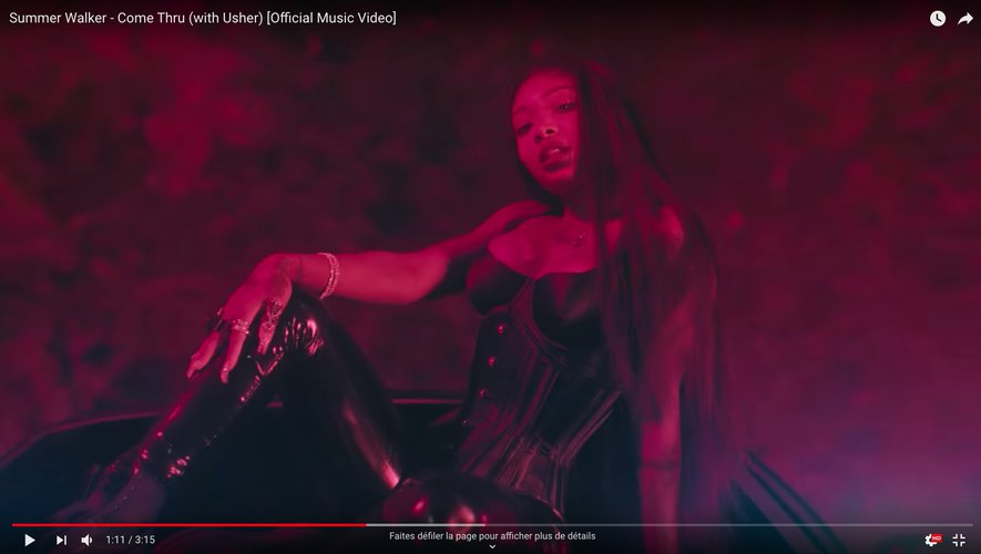 "Summer Walker dans le clip de ""Come Thru"""