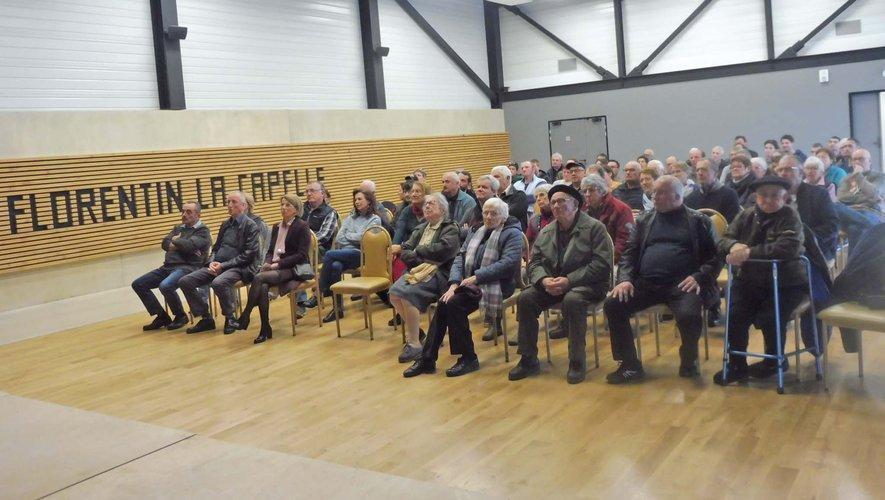 Une assistance nombreuse venue assister à la cérémonie des voeux de la mairie.