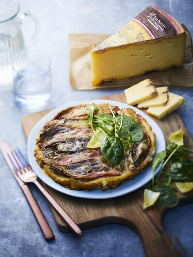 Tatin d'endives au jambon et  au Vacherin Fribourgeois AOP