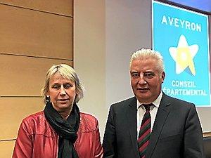 Le Département par le biais de Francine Lafon et Jean-Claude Anglars, participe au financement.