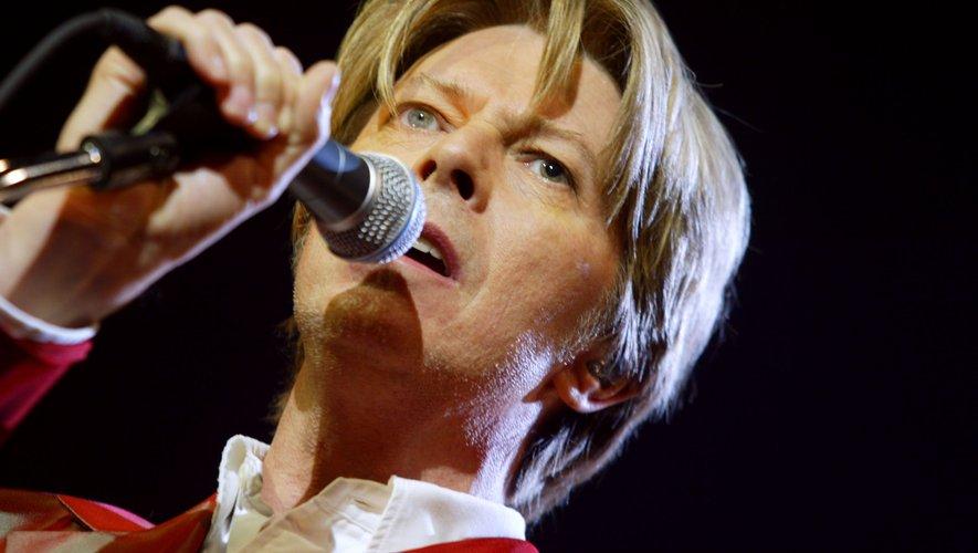 Le chanteur britannique David Bowie au Zénith de Paris en 2002