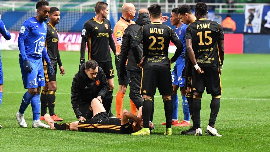 Au bout de 20 minutes de jeu le mardi 3 décembre 2019 à Troyes, Alexis Peyrelade s'était écroulé en hurlant.
