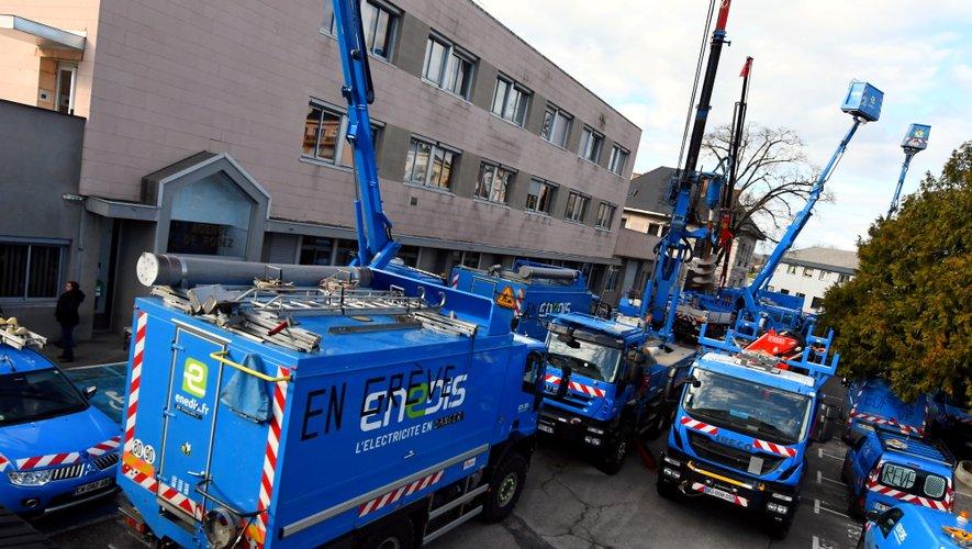 Le site d'Enedis de Saint-Eloi à Rodez reste toujours bloqué.
