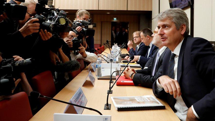 Emmanuel Besnier, le PDG de Lactalis (à droite)