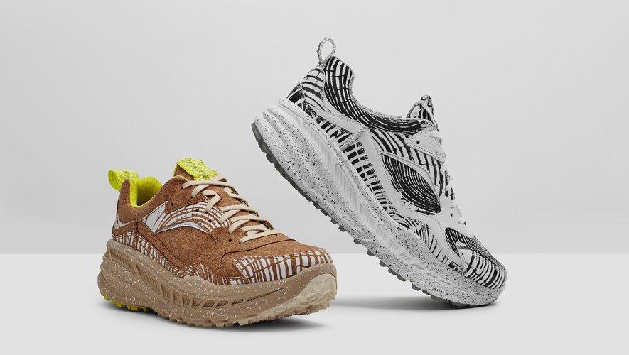 """La paire de sneakers """"CA805 x Cedar"""" de la marque UGG sera disponible en mars."""